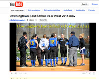 YouTube Video of DEHS Softball East VS West 4-15-11